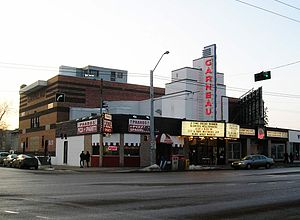 Garneau Theatre - The east face and main entrance of the theatre in 2009.