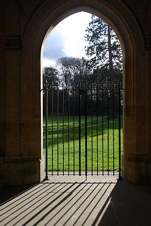 Elveden Hall - Gate leading to grounds of Elveden Hall