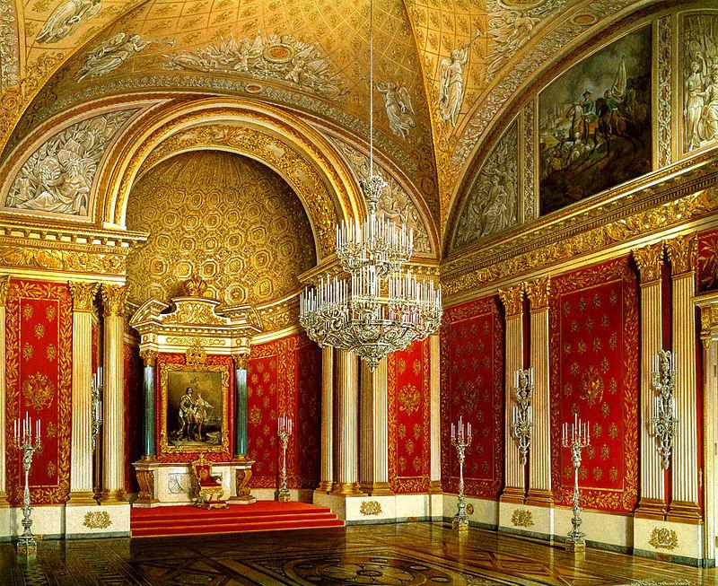 Hermitage Museum Winter Palace Small Throne Room