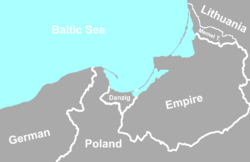 Location of Danzig