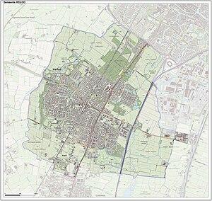 Heiloo - Topographic map of Heiloo, June 2015