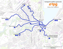 Genève - Trolleybus network map 2012.png
