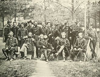 Joseph Hooker - Union General Joseph Hooker (seated 2nd to right) and his staff, 1863