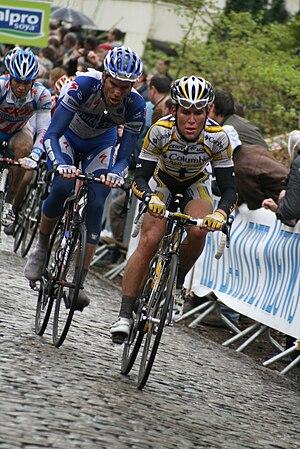 2009 Gent–Wevelgem: Maarten Wijnants (left) an...