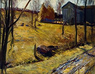Haystacks and Barn
