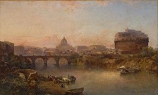 Sunset on the Tiber, Rome