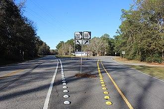Georgia State Route 188 - SR 188 202 split, Thomas County