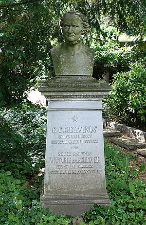 Georg Gottfried Gervinus - His grave in Heidelberg