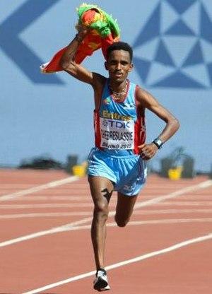 2015 World Championships in Athletics – Men's marathon - Victorious Ghirmay Ghebreslassie