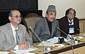 Ghulam Nabi Azad addressing at the launch of the Thalassaemia Diagnostic Kit, in New Delhi. The Minister of State for Health & Family Welfare, Shri A.H. Khan Choudhury and the DG, ICMR and Secretary.jpg
