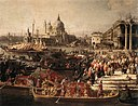 Giovanni Antonio Canal, il Canaletto - Arrival of the French Ambassador in Venice (detail) - WGA03935.jpg