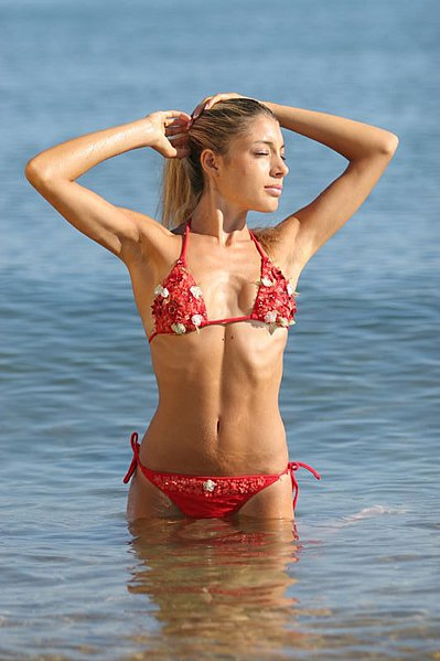 Image:Girl with red flowered bikini.jpg