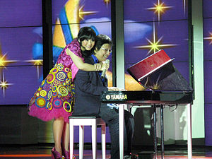 Gita Gutawa - Gita Gutawa with her father Erwin, 2008