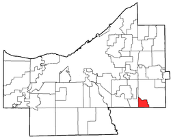 Location of Glenwillow in Cuyahoga County