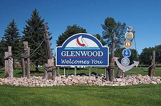 Glenwood, Minnesota - Glenwood welcome sign