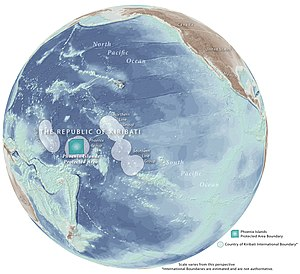 Phoenix Islands Protected Area - Phoenix Islands Protected Area boundary outlined