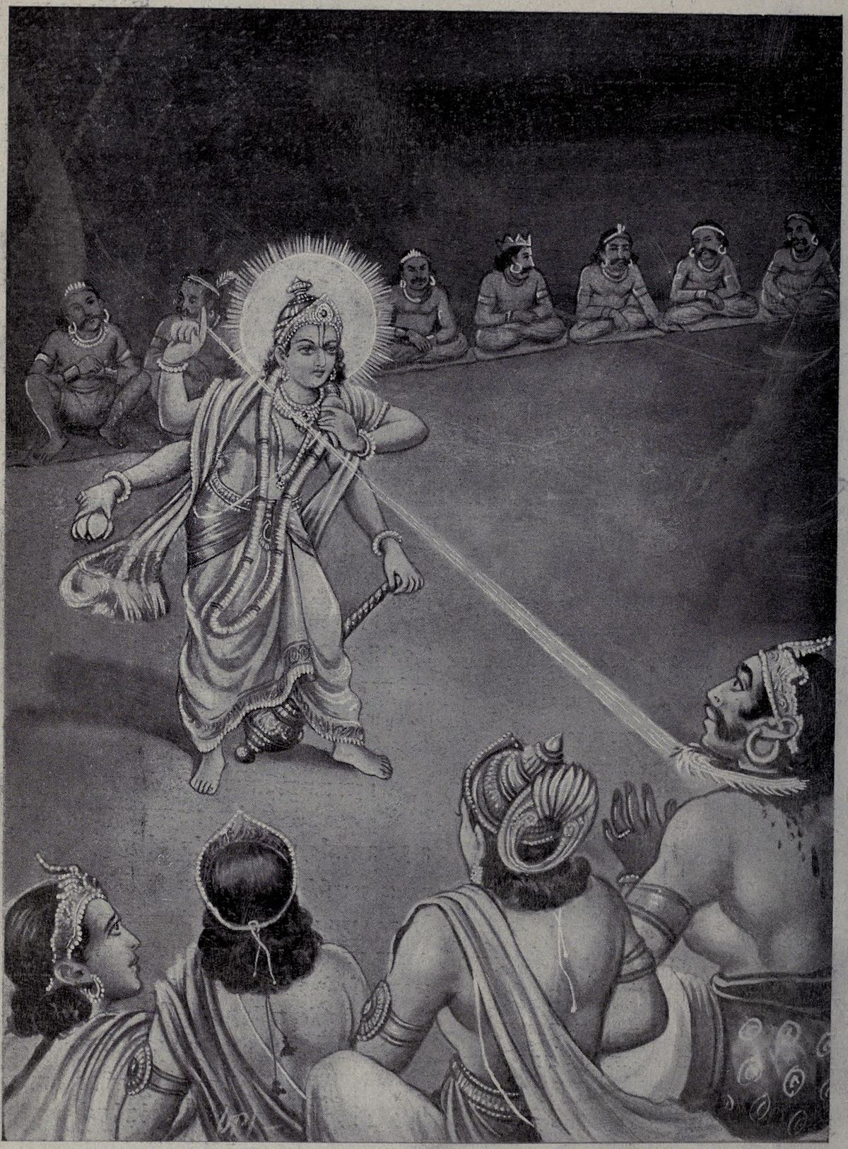 File:God Vishnu cut the head of Rahu with disk jpg