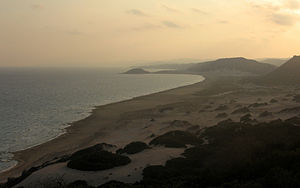 Karpass Peninsula - Image: Golden beach at sunset