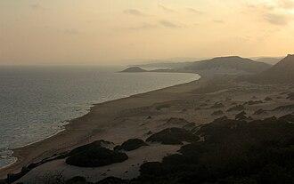 Karpass Peninsula - Image: Golden beach at sunset