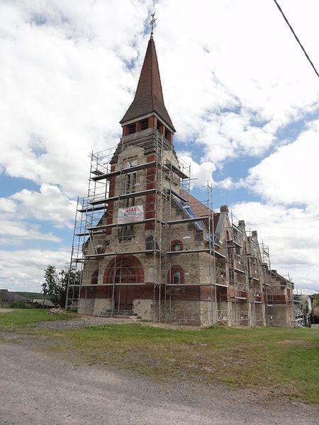Gondrexon (M-et-M) église en restauration 2016