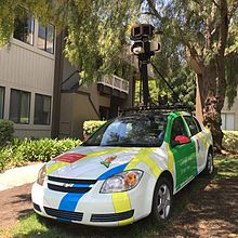 Google Maps - Wikipedia on earth live satellite camera, google maps vehicle with camera, google earth live, google maps camera guy, web live camera, google street view camera, google maps camera funny, google maps live webcam, google earth views with camera, google maps caught on camera, google trekker, google 3d maps live, google earth street view search, google maps street view live, google 360 camera,