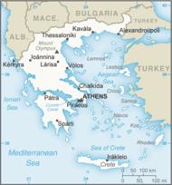 Mapa de Grecia.