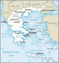 Map of Greece.
