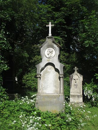 Julius Adam - Grave of Albrecht Adam and his sons in the Alter Südfriedhof in Munich