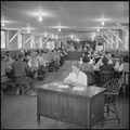 Granada Relocation Center, Amache, Colorado. Staff mess hall which serves members of the appointed . . . - NARA - 539941.tif