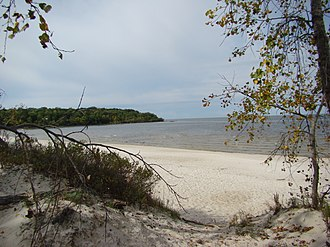 Grand Beach (Manitoba) - Grand Beach and Provincial Park in Lake Winnipeg in Fall 2009 Manitoba.