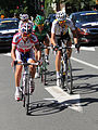 Grand Prix Cycliste de Montréal 2011, Breakaway head-on- DiLuca, Pate, Arashiro, Geslin (6140242389).jpg