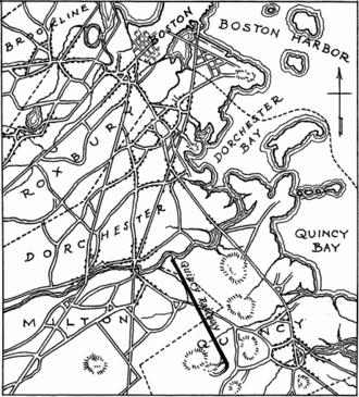 Granite Railway - Image: Granite Railway map section