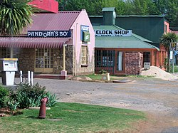 Shops along the main street of Graskop
