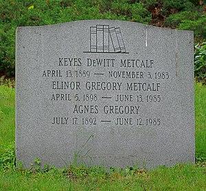 Keyes Metcalf - Grave of Keyes Metcalf, Mount Auburn Cemetery