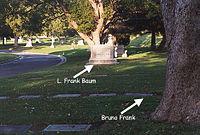Grave of Bruno Frank and L. Frank Baum by Scott G.jpg