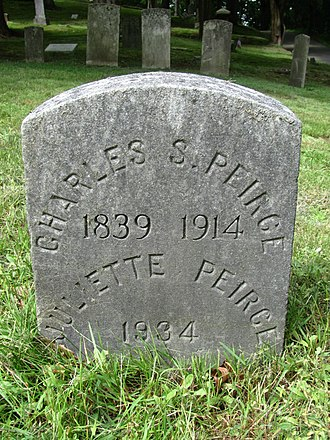 Charles Sanders Peirce - Charles and Juliette Peirce's grave