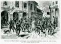 Gravure du Monde Illustré représentant une manifestation militaire contre les Juifs a Iassy en 1876, n'ayant jamais eu lieu (Verax, La Roumanie et les juifs, 1903).png