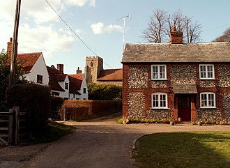 Great Sampford - St Michael's Church from the Thaxted end of the village.