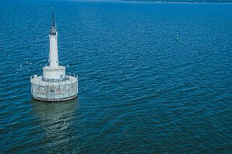 Green Bay (Lake Michigan) - View of the Green Bay Harbor Entrance Light.