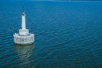 Green Bay (Lake Michigan) - View of the Green Bay Harbor Entrance Light.