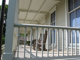 Bush–Holley House - Front porch