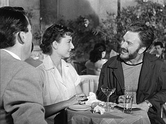 Eddie Albert - Gregory Peck, Audrey Hepburn and Eddie Albert in Roman Holiday (1953)