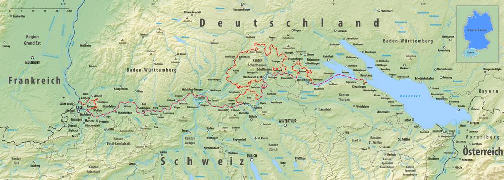 deutschland österreich grenze karte Grenze zwischen Deutschland und der Schweiz – Wikipedia