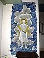 Groesbeek (NL) De Horst, Goddelijk Hart van Jezuskerk muurschildering bij ingang.JPG