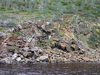 Ophiolite - Ordovician ophiolite in Gros Morne National Park, Newfoundland.