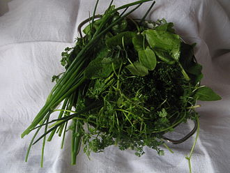 Green sauce - Some possible herbal ingredients of Green Sauce
