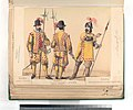 Guardia española, Casa real; Guardia alemana Casa real; Guardia de los archeros de la cuchilla en traje de guerra. 1660 (NYPL b14896507-87486).jpg