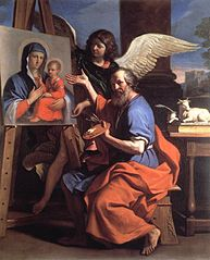 Saint Luke Displaying a Painting of the Virgin
