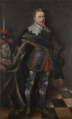 Gustav II Adolf (1594-1632), king Gustavus Adolphus of Sweden, married with Maria Eleonora of Brandenburg