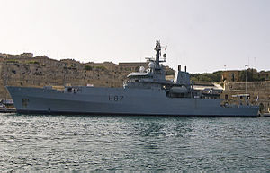 HMS Echo (H87) - HMS Echo near the Valletta Waterfront, Malta, April 2008